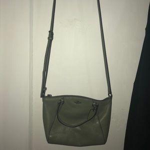 Cute green coach bag!